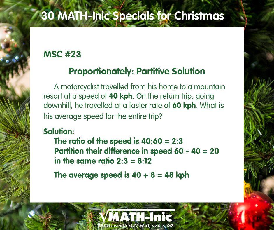 MSC #23 –  Proportionately: Partitive Solution