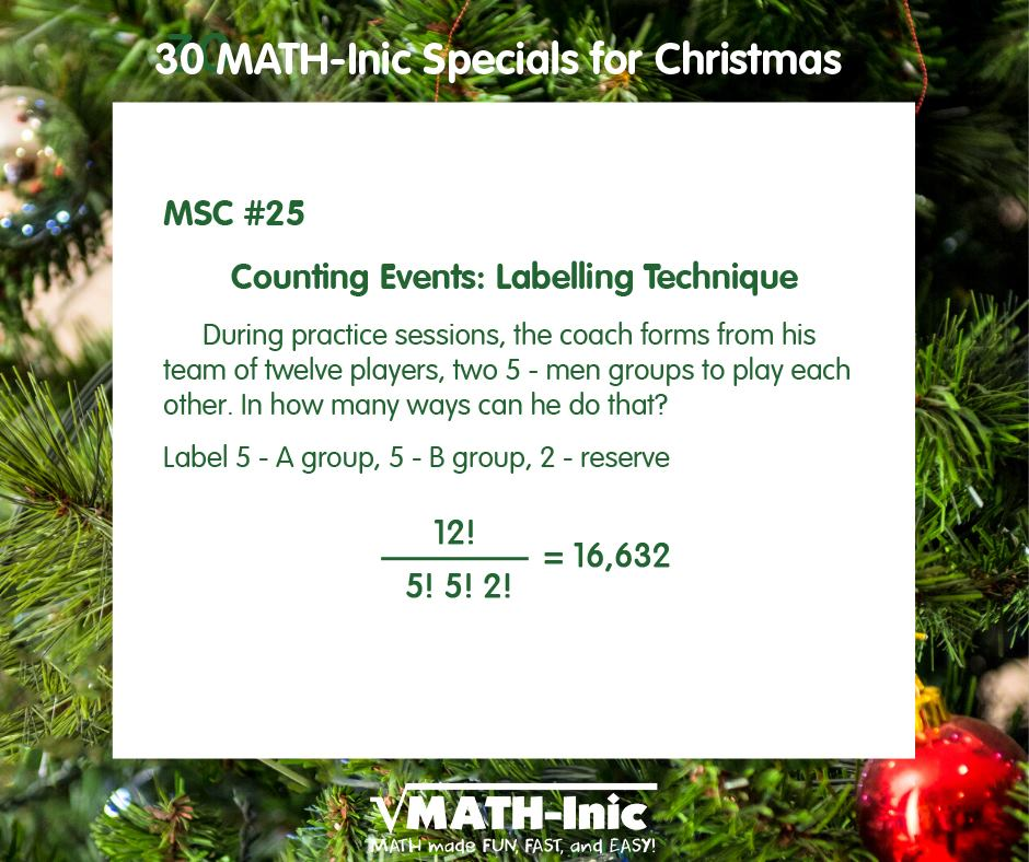 MSC #25 – Counting Events: Labeling Technique
